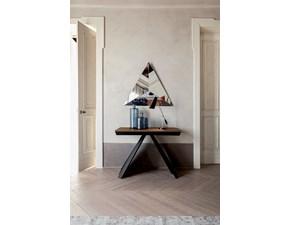 Tavolo in legno rettangolare Tonin casa consolle allungabile ventaglio 300 cm  Tonin casa in offerta outlet