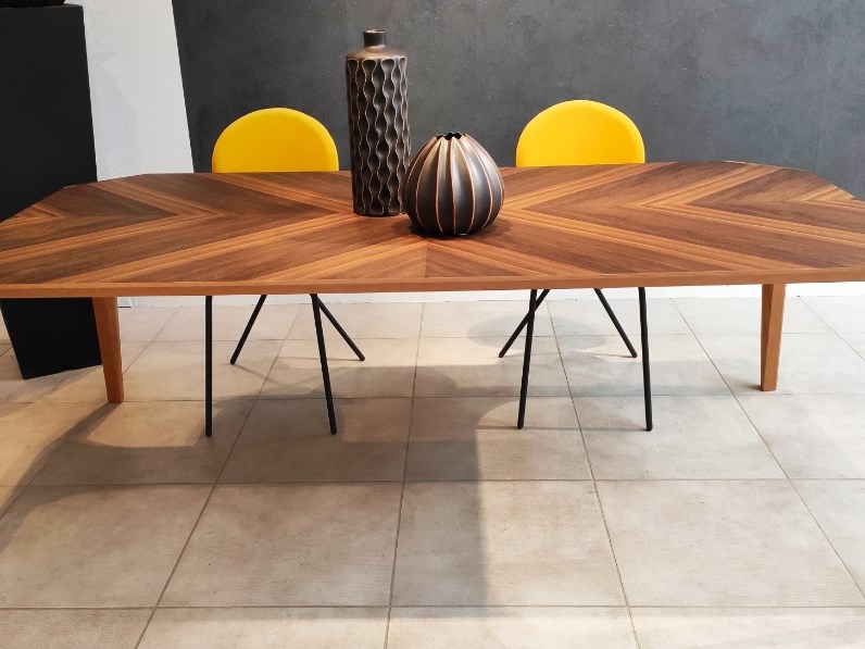 Tavolo in legno rettangolare Unico Riflessi a prezzo ribassato