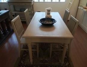 Tavolo in legno rettangolare  Verceral  Artigianale e sedie a prezzo scontato