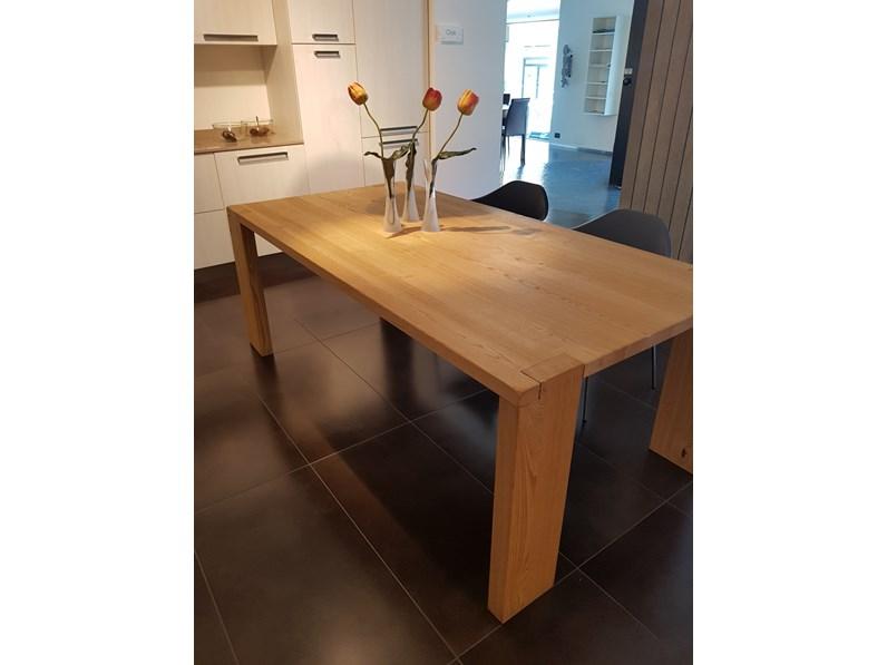 Tavolo in legno rettangolare Wood Aster cucine a prezzo scontato