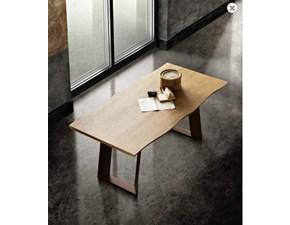 Tavolo in legno rettangolare Wood Max home in offerta outlet