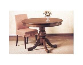 Tavolo in legno rotondo 416 ciliegio Meroni ugo & figli a prezzo ribassato