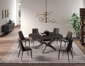 Tavolo in legno rotondo Big round Ozzio in offerta outlet