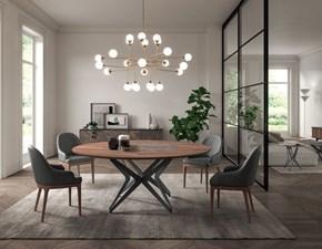 Tavolo in legno rotondo Dna Ozzio in offerta outlet