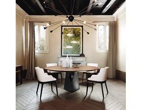 Tavolo in legno rotondo Giano Cattelan a prezzo ribassato