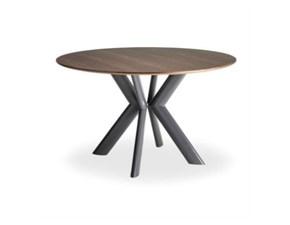 Tavolo in legno rotondo Joker Artigianale in Offerta Outlet