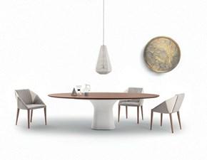 Tavolo in legno rotondo Podium 52.17 Bontempi casa in offerta outlet