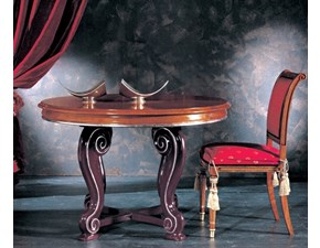 Tavolo in legno rotondo Tavolo i solisti Artigianale in Offerta Outlet