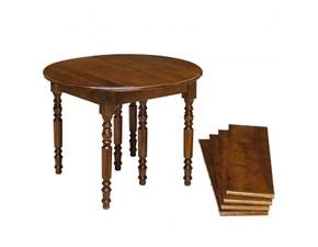 Tavolo in legno rotondo Tavolo rotondo a bandelle allungabile scontato del 40% Artigianale in Offerta Outlet