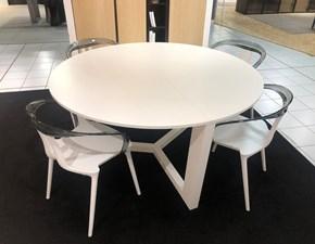 Tavolo in legno rotondo Tavolo + sedie Artigianale in offerta outlet