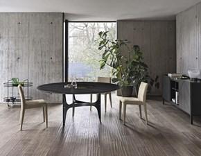 Tavolo in legno rotondo Universe Bontempi in offerta outlet
