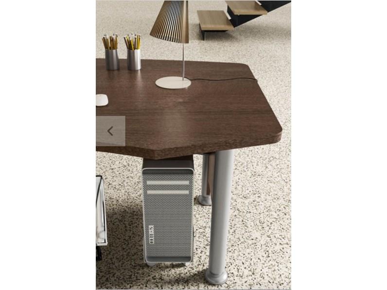Tavolo in legno sagomato mobile ufficio direzionale kronos - Mobili tre ci ...