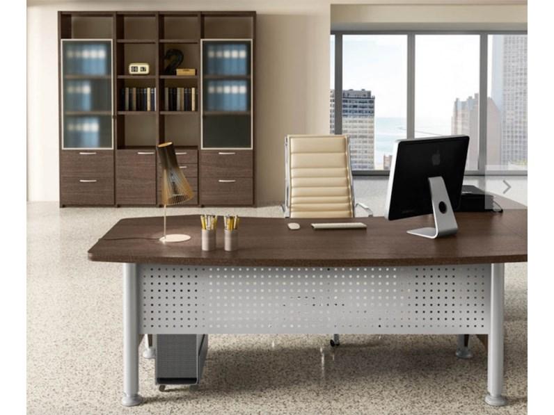 Tavolo in legno sagomato mobile ufficio direzionale kronos for Outlet ufficio