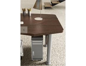 Tavolo in legno sagomato Mobile ufficio direzionale kronos 02 Zg mobili in Offerta Outlet