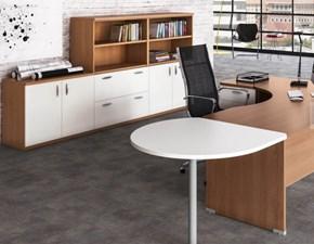 Tavolo in legno sagomato Mobile ufficio operativo tekno 09 Zg mobili a prezzo scontato