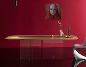 Tavolo in legno sagomato New york my glass Devina nais a prezzo scontato