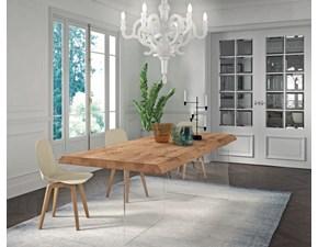 Tavolo in legno sagomato Panaer Domus arte in offerta outlet