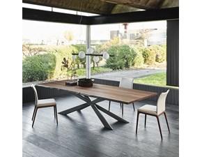 Tavolo in legno sagomato Spyder wood Cattelan italia a prezzo ribassato
