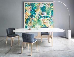 Tavolo in legno sagomato Torii legno o laccato Novamobili in offerta outlet