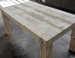 Tavolo in legno vecchio e patinato allungabile