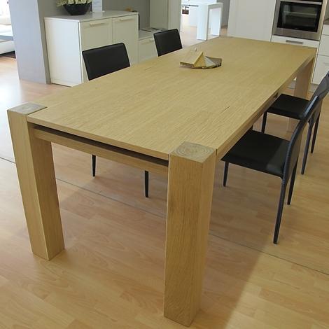 Tavolo in legno massiccio rovere allungabile tavoli a - Tavolo legno allungabile prezzi ...