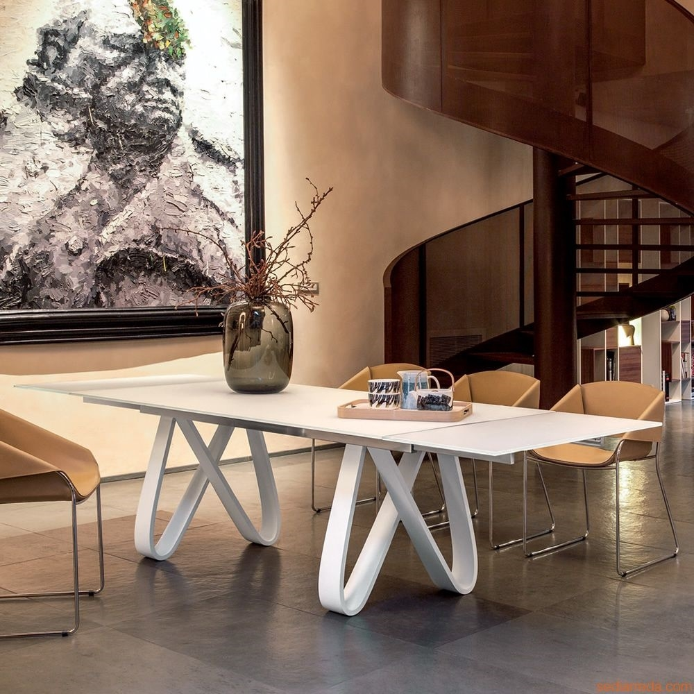 Tavolo in marmo bianco di carrara modello butterfly for Design moderni della casa di vetro