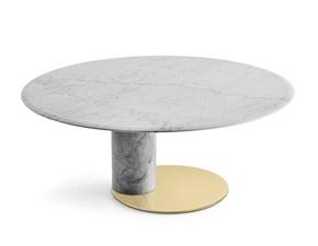 Tavolo in marmo rotondo Oto big Gallotti & radice a prezzo scontato