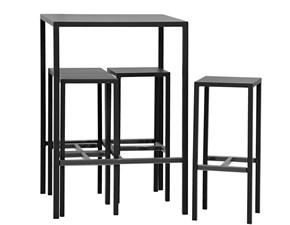 Tavolo in metallo quadrato Vegas con sgabelli Artigianale a prezzo scontato