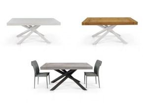 Tavolo in metallo rettangolare Allungabile in 3 finiture colore fine produzione  Md work in Offerta Outlet