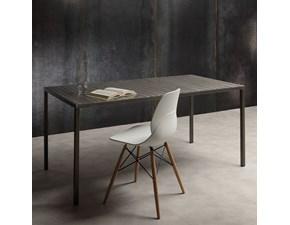 Tavolo in metallo rettangolare Iron La seggiola in offerta outlet