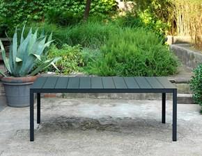 Tavolo in metallo rettangolare Rio alu 210 ext. Nardi outdoor in offerta outlet