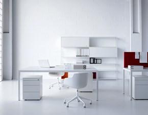 Tavolo in metallo rettangolare Scrivania desk 3.0 mdf  Mdf in Offerta Outlet