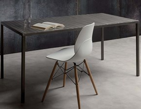 Tavolo in metallo rettangolare Steel Lyons cucine in offerta outlet