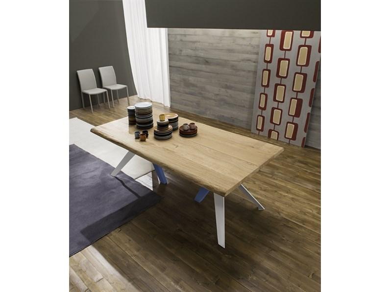 Tavolo moderno fisso in legno Fly scontato del 40 %