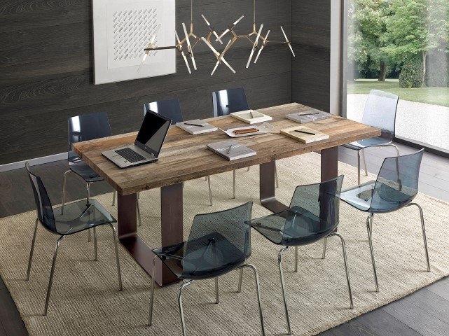 Tavolo in ontano con gambe in ferro scontato del 40 - Gambe tavoli ikea ...
