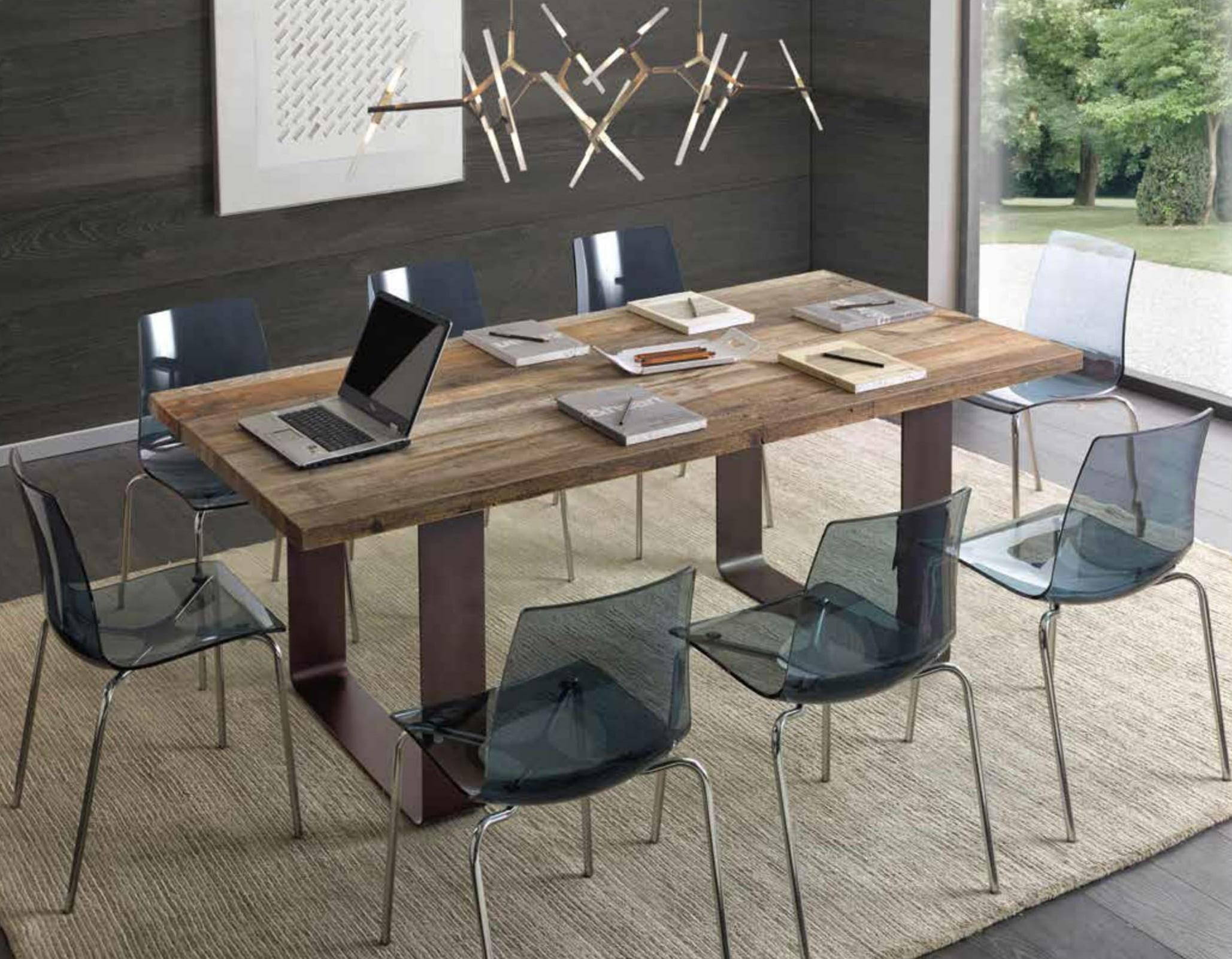 Tavolo in rovere trattato con cera naturale scontato rettangolari fissi legno tavoli a prezzi - Tavolo per cucina moderna ...