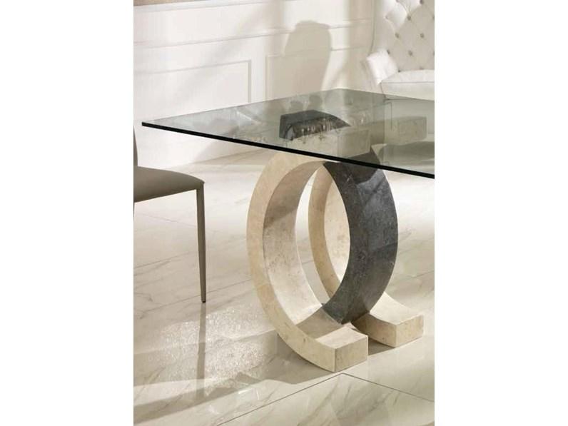 Tavoli In Pietra E Cristallo.Tavolo In Pietra E Vetro Design Md Fine Serie