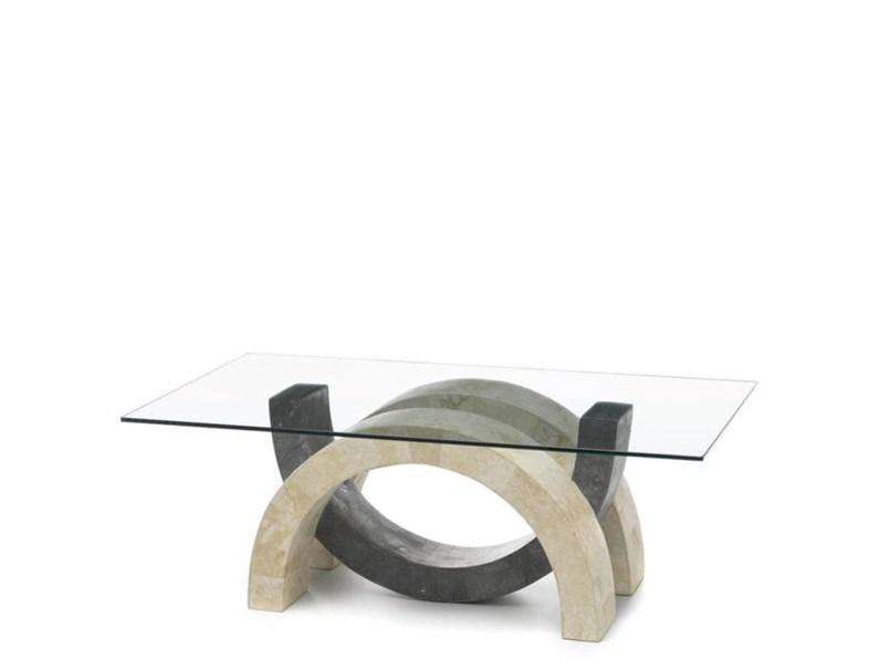 Tavolini Da Salotto In Pietra E Vetro.Tavolo In Pietra E Vetro Design Md Fine Serie