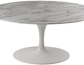 Tavolo in pietra ovale Saarinen made in italy 180x110 Artigianale in offerta outlet