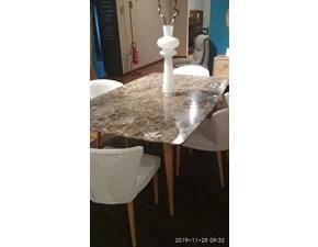 Tavolo in pietra rettangolare Marmo emperador Callesella in Offerta Outlet