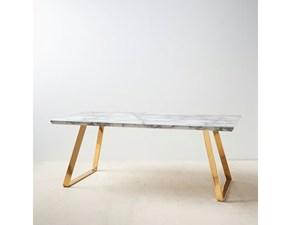Tavolo in pietra rettangolare Màrmol Ixia in Offerta Outlet