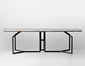 Tavolo in pietra rettangolare Tolomeo Esedra a prezzo ribassato