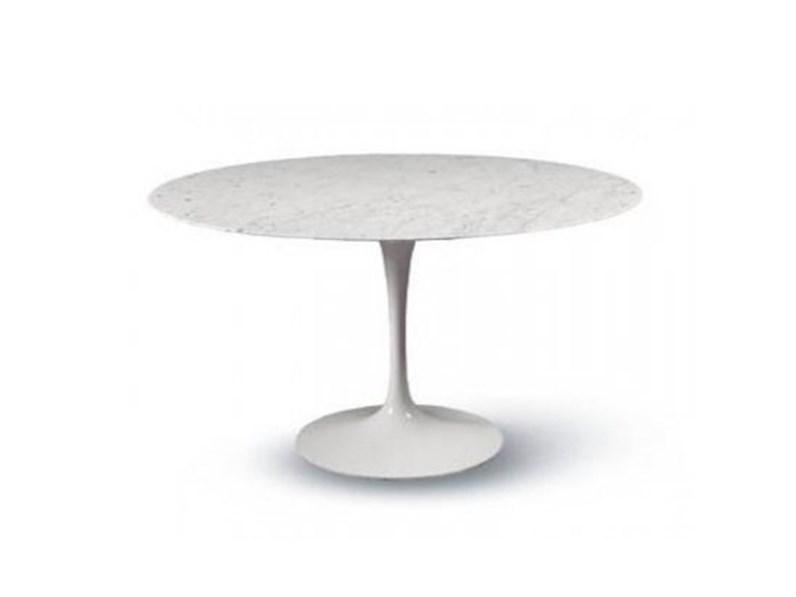 Tavoli In Pietra Prezzi.Tavolo In Pietra Rotondo Saarinen Made In Italy Diametro 107
