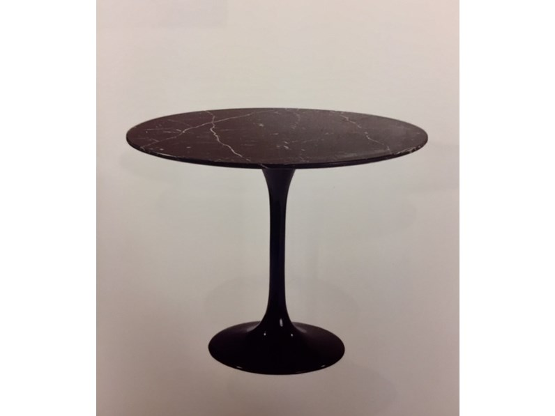 Tavoli In Pietra Prezzi.Tavolo In Pietra Rotondo Tulip Rotondo E 54 T Marmo Nero Marquinia