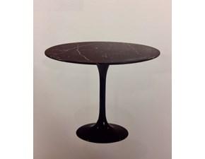 Tavolo in pietra rotondo Tulip rotondo e/54/t marmo nero marquinia Esprit nouveau a prezzo scontato