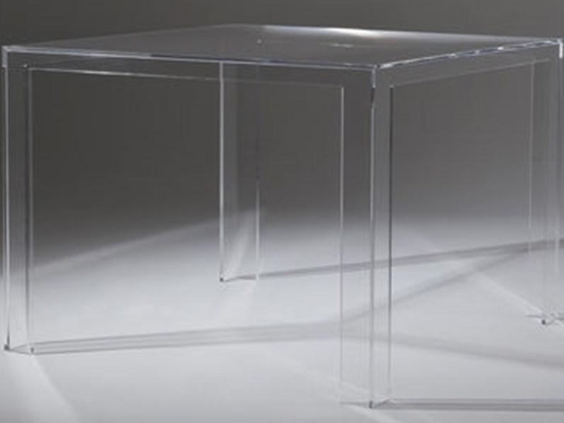 Tavolo in plastica quadrato Invisible table Kartell a ...