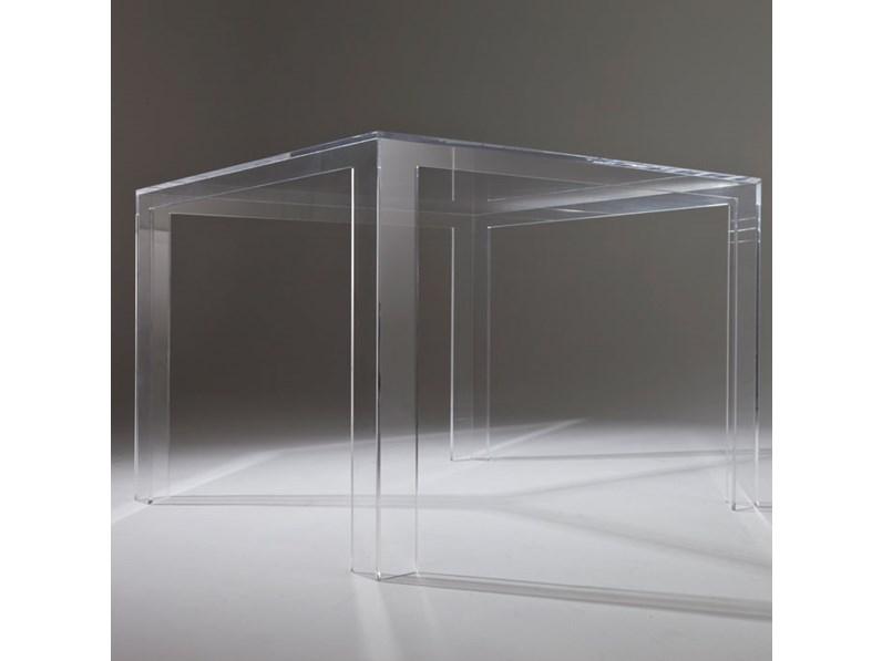 Kartell Tavoli Da Pranzo.Tavolo In Plastica Quadrato Invisible Table Kartell A Prezzo Ribassato