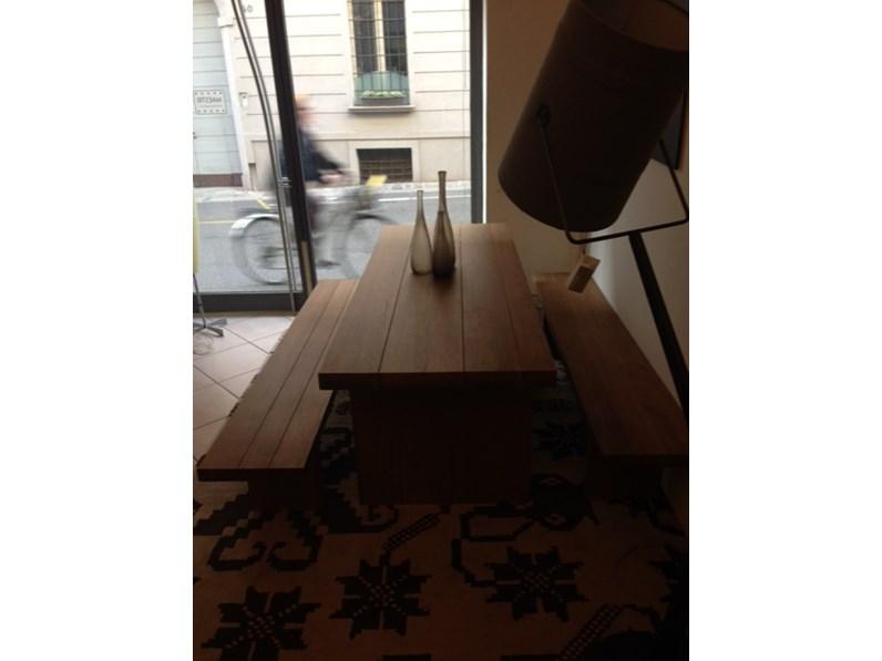 Tavolo In rovere antico con panche scontato del -46 %