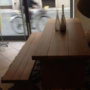 Tavolo in rovere antico con panche