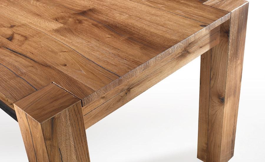 Tavolo in rovere antico spaccato tavoli a prezzi scontati for Tavoli antichi prezzi